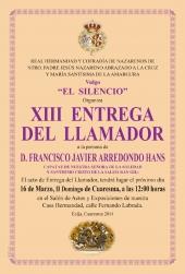 XIII Entrega del Llamador
