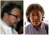 A la izquierda de la imagen D. Pablo colón Perales (Pregonero de la Semana Santa 2013) a la derechad. RAfael Amadeo Rojas (Cartelista)