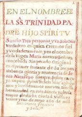 INICIO PRIMITIVAS REGLAS DE LA HERMANDAD DEL SILENCIO ECIJA