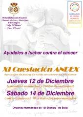 CONVOCATORIA CUESTACION ANDEX ECIJA. HERMANDAD DE EL SILENCIO