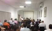 Momento de la reunión celebrada en la Casa Hermandad de San Gil