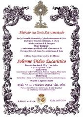 TRIDUO EUCARISTICO HERMANDAD DEL SILENCIO ECIJA