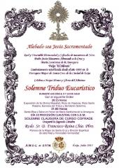 SOLEMNE TRIDUO EUCARÍSTICO HERMANDAD DEL SILENCIO ECIJA