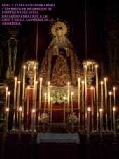 Altar instalado con motivo del Triduo a Maria Stma de la Amargura. Año 2013